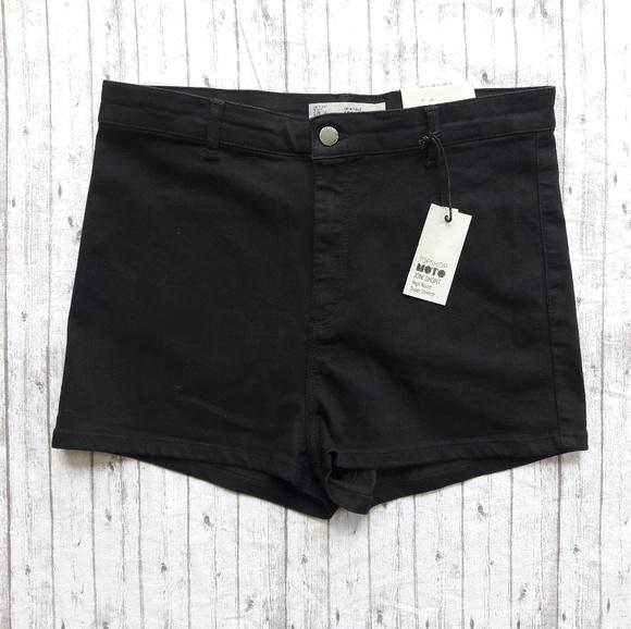 860e084553 Topshop PETITE Shorts | Black Joni | Poshmark